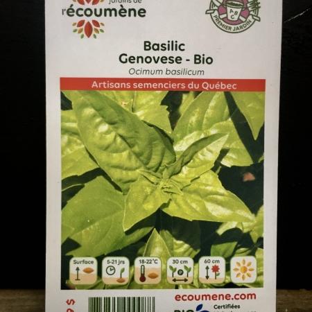 Écoumène - Basilic Genovese - Bio (400 semences)