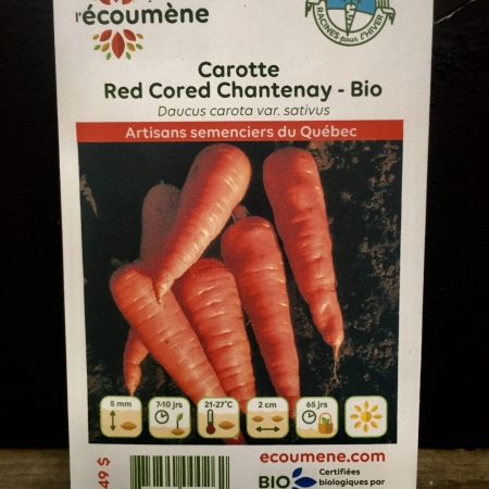 Écoumène - Carotte Red Cored Chantenay - Bio (800 semences)