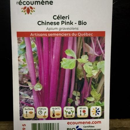 Écoumène - Céleri Chinese Pink - Bio (250 semences)