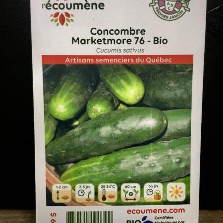 Écoumène - Concombre Marketmore 76 - Bio (40 semences)