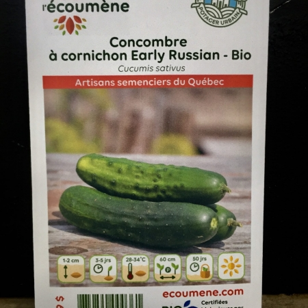 Écoumène - Concombre à cornichon Early Russian - Bio (35 semences)