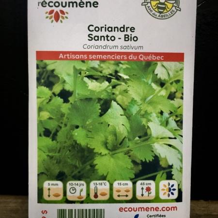 Écoumène - Coriandre Santo - Bio (200 semences)