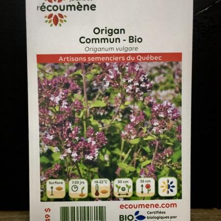 Écoumène - Origan commun - Bio (400 semences)