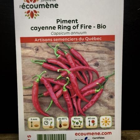 Écoumène - Piment cayenne Ring of Fire - Bio (25 semences)