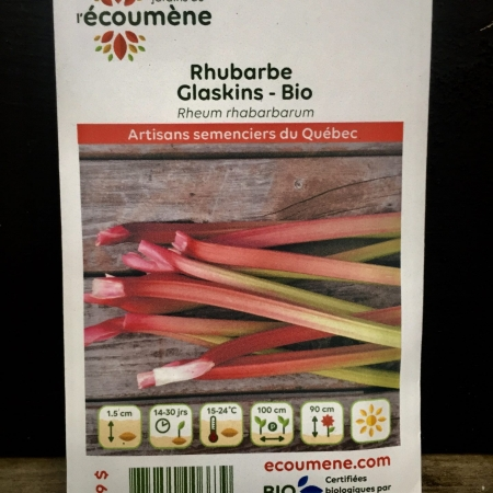 Écoumène - Rhubarbe Glaskins - Bio (40 semences)