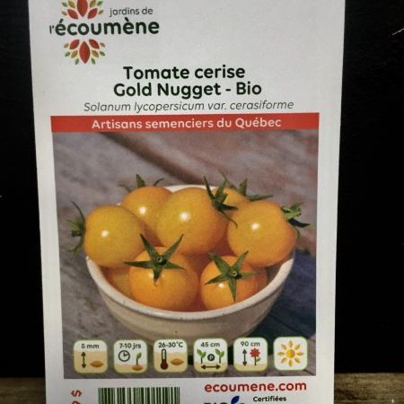 Écoumène - Tomate Gold Nugget - Bio (35 semences)