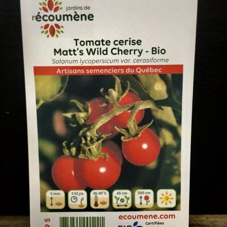 Écoumène - Tomate Matt's Wild Cherry - Bio (35 semences)